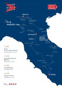 1000 Miglia mappa 2019